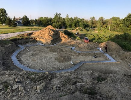 Footings poured to show the outline of the house