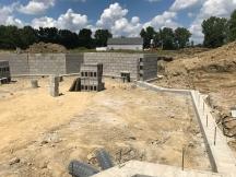 More progress on the basement walls