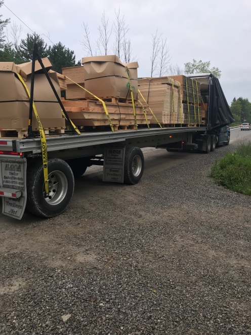 Truck with dome kit arrives