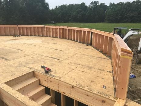 The riser walls come pre-assembled