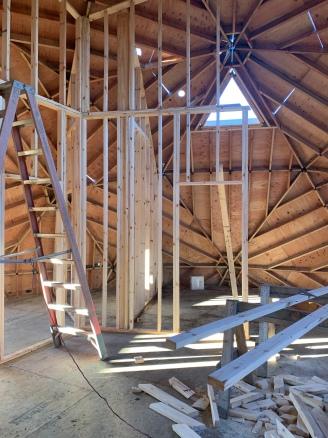 Second floor framing.