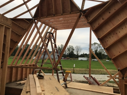 Entryway Extension Framing View Out