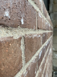 Super close up on the brick
