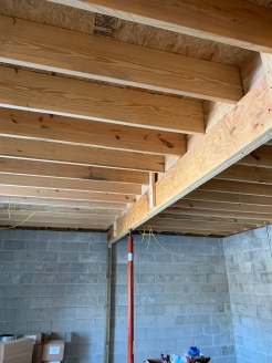 New kitchen beam