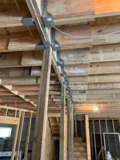 main beam repair with new hardware