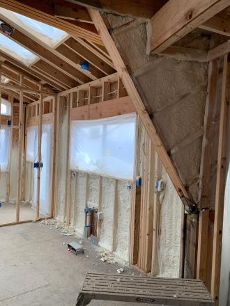 Insulation install kitchen