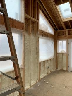 Insulation install solarium