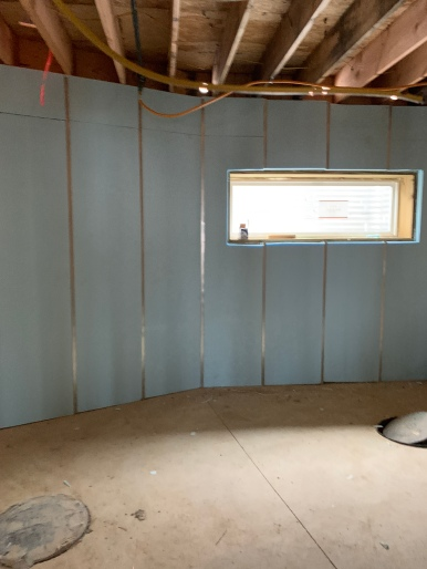 Insulation as installed in basement