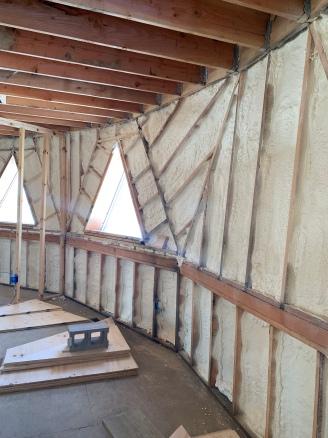 Insulation install master bedroom
