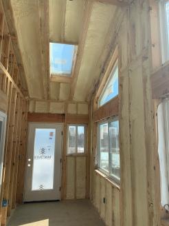 Insulation install solarium ceiling