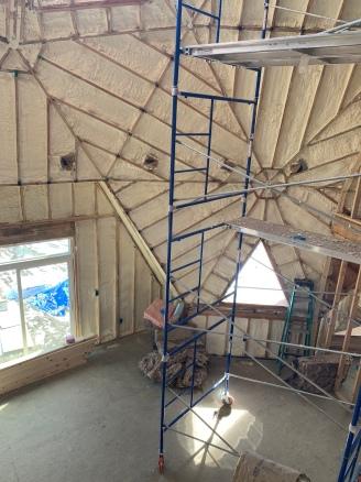 Insulation install dining room