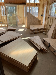 Plywood awaiting install