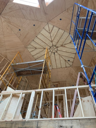 Plywood installation only the top pentagon left