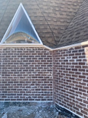 Brick under dining room window