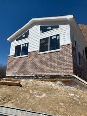 Brick finished on solarium