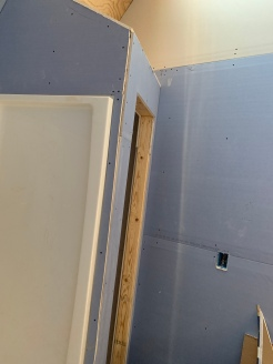 Plywood install in upstairs bath