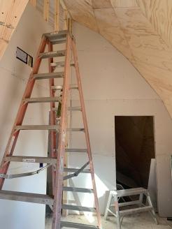drywall install bedroom 2 looking toward storage