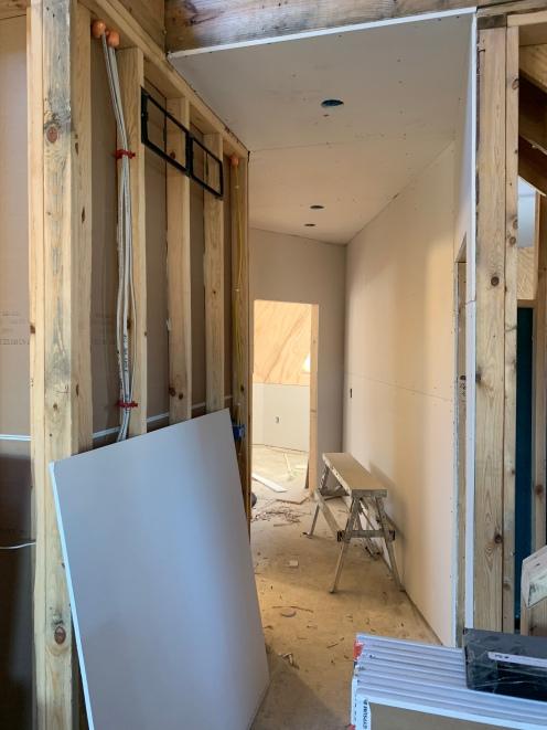 Drywall install right hallway