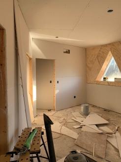 Drywall install master bedroom