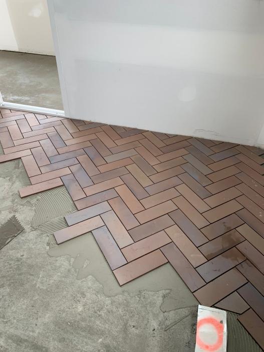 kitchen tile begins