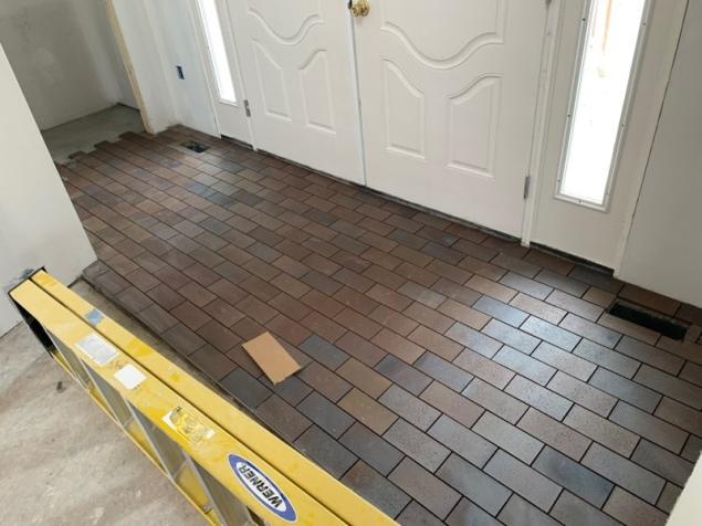 Entry tiling in progress