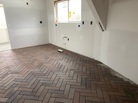 Herringbone Tile in the Kitchen