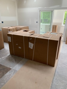 Kitchen Island in Boxes