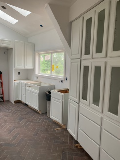 Kitchen cabinet install west side