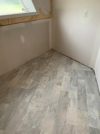 Vinyl flooring in Laundry Room