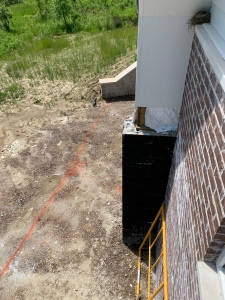 Marking the line for the deck and slab