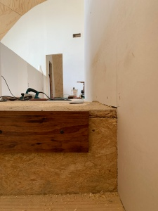 Leveling out the subfloor