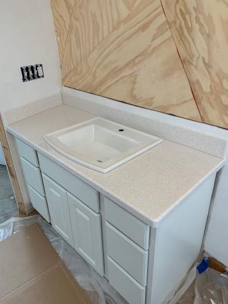Master bath countertop install