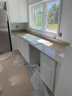 Kitchen counters install west wall