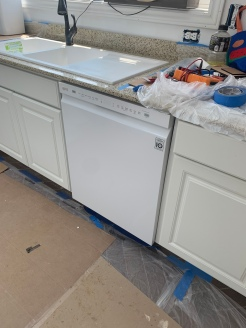Had to get an additional part to allow us to attach the dishwasher to the counter, since glass/solid suface/granite type counters you can't drill into for the securing bracket.