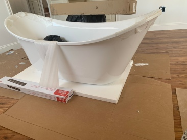 Clawfoot (not shown) double slipper tub for the master bath.