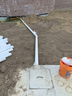 House to tank pipe
